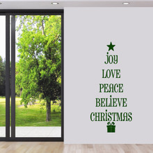 "Christmas Tree Words Wall Decal 22"" wide x 48"" tall Sample Image"