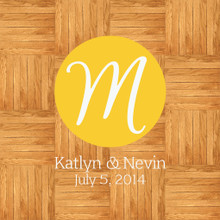 Circle Layered Wedding Monogram Wall Decals and Stickers