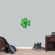 "Clover Printed Wall Decal 11"" wide x 12"" tall Sample Image"