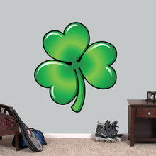 "Clover Printed Wall Decal 33"" wide x 36"" tall Sample Image"