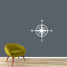 "Compass Wall Decal 22"" wide x 22"" tall Sample Image"