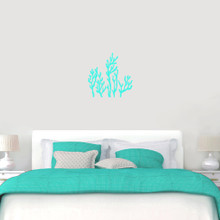 "Coral Reef Wall Decals Wall 22"" wide x 22"" tall Sample Image"