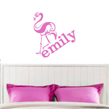 Flamingo with Custom Name Wall Decals and Stickers