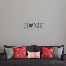 """Custom Home State Wall Decal 24"""" wide x 8"""" tall Sample Image"""
