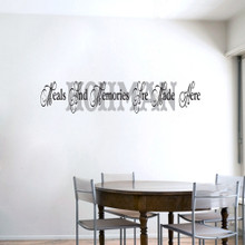 Custom Meals and Memories Wall Decals and Stickers