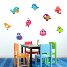 Cute Birds Printed Wall Decals and Stickers
