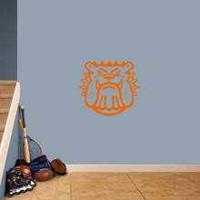 "Bulldog Mascot Wall Decals 24"" wide x 22"" tall Sample Image"