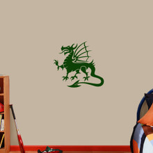 "Dragon Mascot Wall Decals 24"" wide x 22"" tall Sample Image"