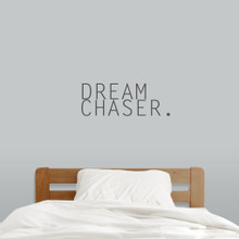"Dream Chaser Wall Decals 24"" wide x 9"" tall Sample Image"