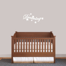 """Dreaming Wall Decal 24"""" wide x 12"""" tall Sample Image"""