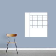 "Dry Erase Calendar With Notes Wall Decals 28"" wide x 30"" tall Sample Image"