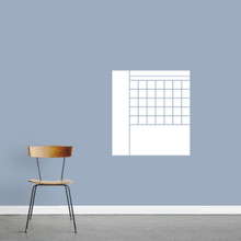 "Dry Erase Calendar With Notes Wall Decals 22"" wide x 24"" tall Sample Image"