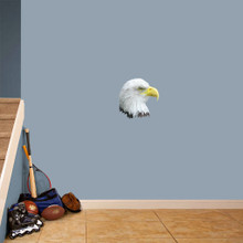 "Eagle Head Mascot Printed Wall Decals 12"" wide x 12"" tall Sample Image"