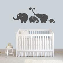 Elephant Set Wall Decals Large Sample Image