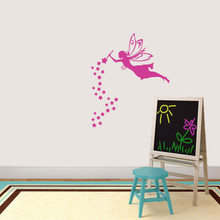 """Fairy With Wand And Stars Wall Decal 30"""" wide x 36"""" tall Sample Image"""