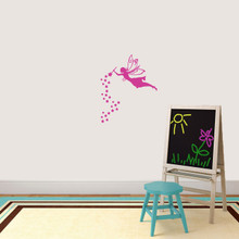 """Fairy With Wand And Stars Wall Decal 20"""" wide x 24"""" tall Sample Image"""