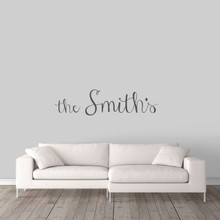 "Custom Family Name Wall Decal 48"" wide x 12"" tall Sample Image"