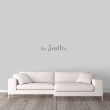 "Custom Family Name Wall Decal 24"" wide x 6"" tall Sample Image"