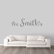 "Custom Family Name Wall Decal 60"" wide x 15"" tall Sample Image"