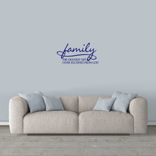 "Family Wall Decal 24"" wide x 12"" tall Sample Image"