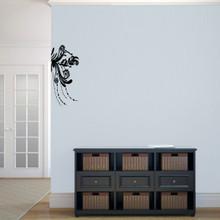 "Corner Flourish Wall Decals 10"" wide x 22"" tall Sample Image"