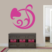"Circle Leaf Scroll Wall Decal 36"" wide x 36"" tall Sample Image"