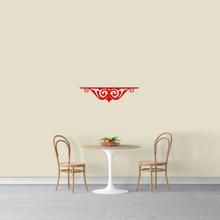"Fancy Shelf Flourish Wall Decal 24"" wide x 6"" tall Sample Image"