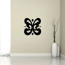 "Butterfly Flourish Wall Decal 18"" wide x 18"" tall Sample Image"