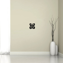 "Butterfly Flourish Wall Decal 6"" wide x 6"" tall Sample Image"