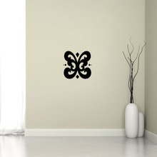 "Butterfly Flourish Wall Decal 12"" wide x 12"" tall Sample Image"