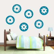 Circle Flowers Wall Decal Large Sample Image
