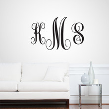 Full Name Fancy Monogram Wall Decals and Stickers