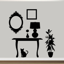 Furniture Silhouettes Wall Decals Wall Stickers Large Sample Image