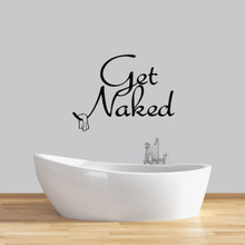 "Get Naked Wall Decals 36"" wide x 27"" tall Sample Image"
