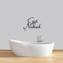 "Get Naked Wall Decals 24"" wide x 18"" tall Sample Image"