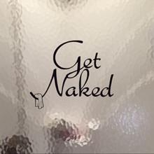 Get Naked Bathroom Fun Wall Decal