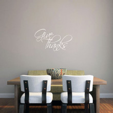 """Give Thanks Wall Decal 24"""" wide x 14"""" tall Sample Image"""