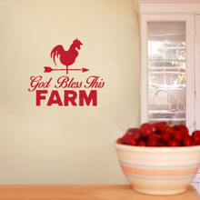 "God Bless This Farm Wall Decals 36"" wide x 32"" tall Sample Image"