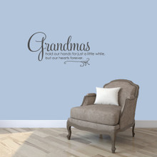 "Grandmas Wall Decals 36"" wide x 16"" tall Sample Image"