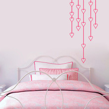 "Hanging Hearts Wall Decals 22"" wide x 50"" tall Sample Image"