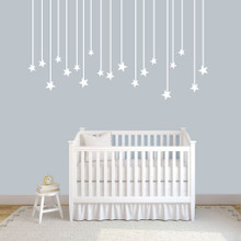 """Hanging Stars Wall Decals 72"""" wide x 40"""" tall Sample Image"""