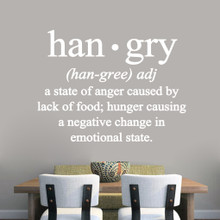 "Hangry Wall Decals 48"" wide x 36"" tall Sample Image"
