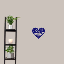 """Heart Flag Wall Decals 12"""" wide x 11"""" tall Sample Image"""