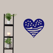 """Heart Flag Wall Decals 24"""" wide x 22"""" tall Sample Image"""