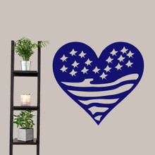 """Heart Flag Wall Decals 36"""" wide x 33"""" tall Sample Image"""