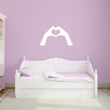 "Heart Hands Wall Decals 36"" wide x 21"" tall Sample Image"