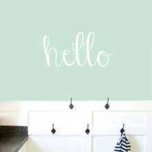 "Hello Wall Decals 24"" wide x 12"" tall Sample Image"