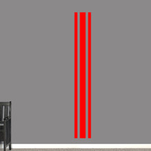 "Sport Stripe Wall Decals 11"" wide x 84"" tall Sample Image"