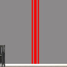 "Sport Stripe Wall Decals 11"" wide x 96"" tall Sample Image"