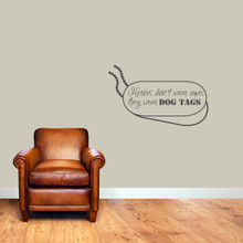 """Heroes Don't Wear Capes Wall Decals 36"""" wide x 22"""" tall Sample Image"""